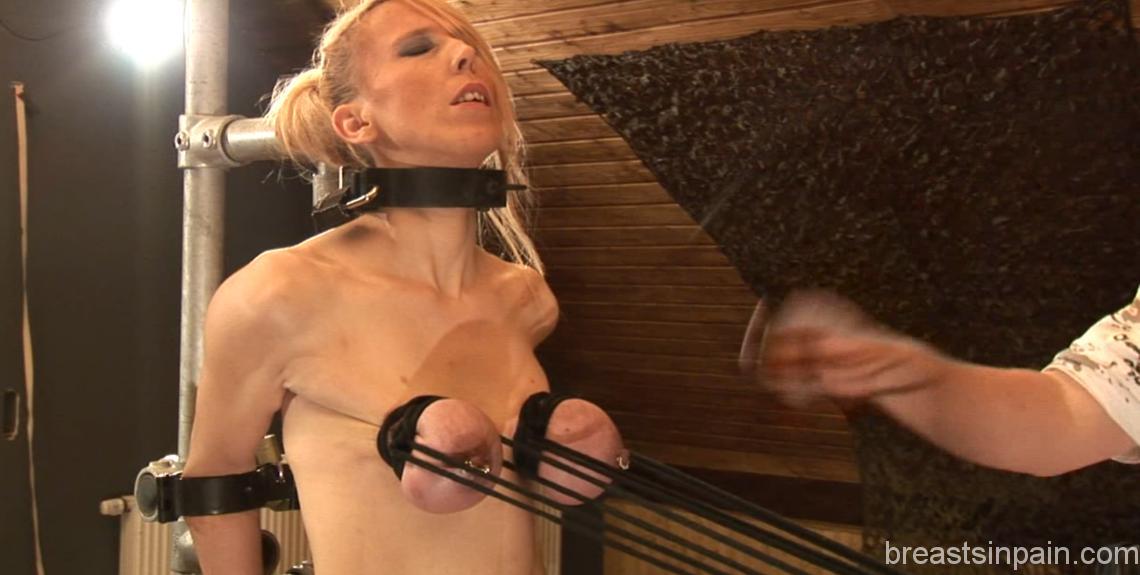 Many extreme breast bondage slave think